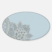 white lace pastel blue Decal