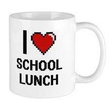 I love School Lunch digital design Mugs