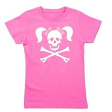 Unique Skull and bones Girl's Tee