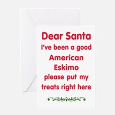 Good American Eskimo Greeting Cards