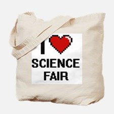 I love Science Fair digital design Tote Bag