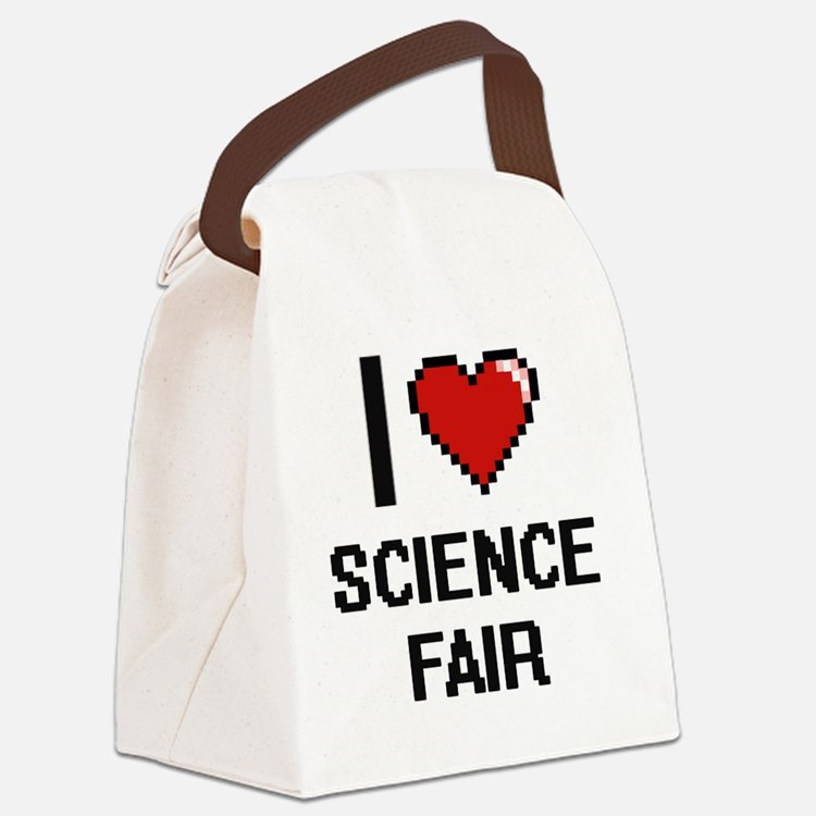 I love Science Fair digital desig Canvas Lunch Bag