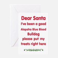 Good Alapaha Blue Blood Bulldog Greeting Cards
