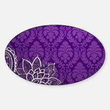 purple damask white lace Decal