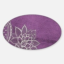 purple abstract white lace Decal