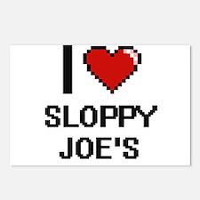 I love Sloppy Joe'S digit Postcards (Package of 8)