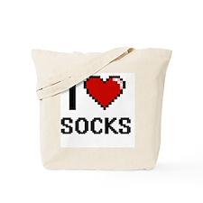 I love Socks digital design Tote Bag