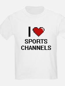 I love Sports Channels digital design T-Shirt