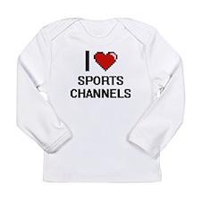 I love Sports Channels digital Long Sleeve T-Shirt