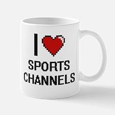 I love Sports Channels digital design Mugs