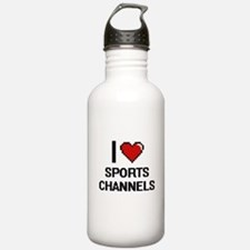 I love Sports Channels Water Bottle
