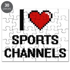 I love Sports Channels digital design Puzzle