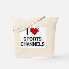 I love Sports Channels digital design Tote Bag