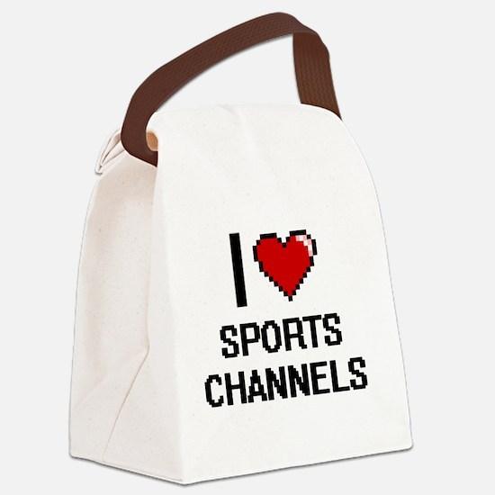 I love Sports Channels digital de Canvas Lunch Bag