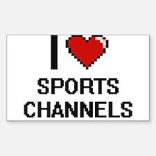 I love Sports Channels digital design Decal