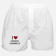I love Sports Channels digital design Boxer Shorts