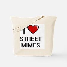 I love Street Mimes digital design Tote Bag