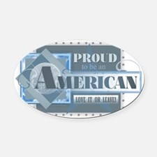 Proud to be an American Oval Car Magnet