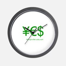 Yen Euro Dollar Wall Clock