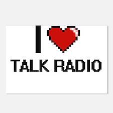 I love Talk Radio digital Postcards (Package of 8)