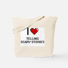 I love Telling Scary Stories digital desi Tote Bag