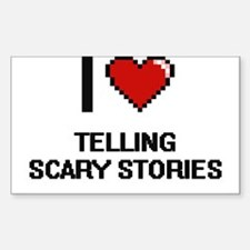 I love Telling Scary Stories digital desig Decal