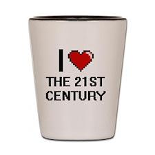 I love The 21St Century digital design Shot Glass