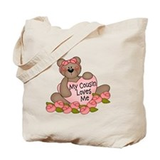 My Cousin Loves Me CUTE Bear Tote Bag