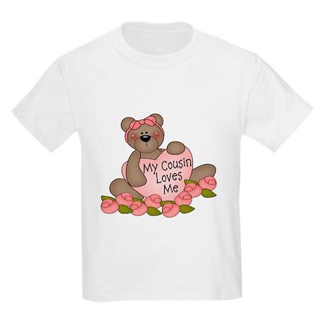 My Cousin Loves Me CUTE Bear Kids Light T-Shirt