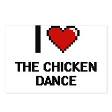 I love The Chicken Dance Postcards (Package of 8)