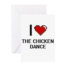 I love The Chicken Dance digital de Greeting Cards