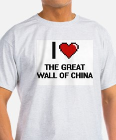 I love The Great Wall Of China digital des T-Shirt