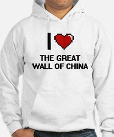 I love The Great Wall Of China d Hoodie