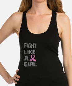 Unique Breast cancer fight like a girl stylish Racerback Tank Top