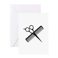 SCISSORS AND COMB Greeting Cards