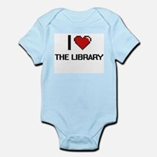 I love The Library digital design Body Suit