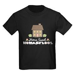 Home Sweet Homeschool Kids Black T-Shirt