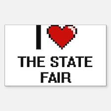 I love The State Fair digital design Decal