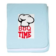 BBQ TIME baby blanket