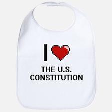 I love The U.S. Constitution digital design Bib