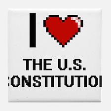 I love The U.S. Constitution digital Tile Coaster