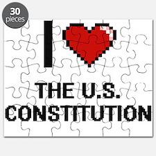 I love The U.S. Constitution digital design Puzzle