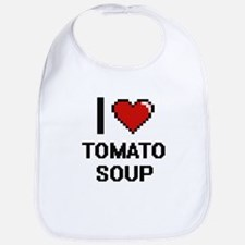 I love Tomato Soup digital design Bib