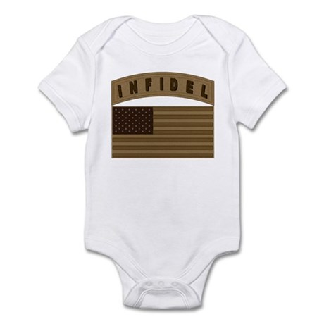 Desert US Infidel Patch Infant Bodysuit
