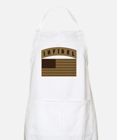 Desert US Infidel Patch BBQ Apron