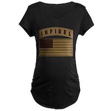 Desert US Infidel Patch T-Shirt