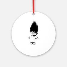 Cute Black irish Round Ornament