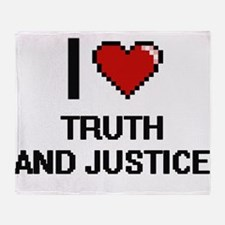 I love Truth And Justice digital des Throw Blanket