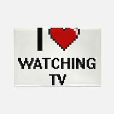 I love Watching Tv digital design Magnets
