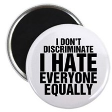 "Hate Equally 2.25"" Magnet (10 pack)"